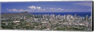 View of a city, Honolulu, Oahu, Honolulu County, Hawaii, USA 2010 Fine-Art Print