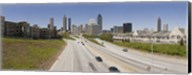 Vehicles moving on the road leading towards the city, Atlanta, Georgia, USA Fine-Art Print