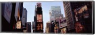 Low angle view of buildings, Times Square, Manhattan, New York City, New York State, USA 2011 Fine-Art Print