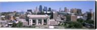 Union Station with city skyline in background, Kansas City, Missouri, USA Fine-Art Print