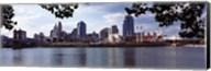 City at the waterfront, Ohio River, Cincinnati, Hamilton County, Ohio Fine-Art Print
