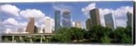 Wedge Tower, ExxonMobil Building, Chevron Building from a Distance, Houston, Texas, USA Fine-Art Print