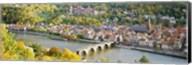 Aerial view of Heidelberg Castle and city, Heidelberg, Baden-Wurttemberg, Germany Fine-Art Print