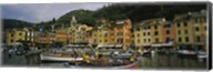Fishing boats at the harbor, Portofino, Italy Fine-Art Print