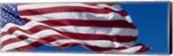 Close-up of an American flag fluttering, USA Fine-Art Print