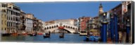 Bridge across a canal, Rialto Bridge, Grand Canal, Venice, Veneto, Italy Fine-Art Print