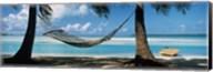 Hammock on the beach, Cook Islands South Pacific Fine-Art Print