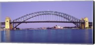 Bridge across a sea, Sydney Harbor Bridge, Sydney, New South Wales, Australia Fine-Art Print
