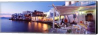 Waterfront View of Mykonos, Greece Fine-Art Print