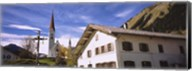Low Angle View Of A Church, Holzgau, Lechtal, Austria Fine-Art Print