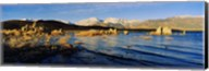 Lake with mountains in the background, Mono Lake, Eastern Sierra, Californian Sierra Nevada, California, USA Fine-Art Print