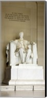 Abraham Lincoln's Statue in a memorial, Lincoln Memorial, Washington DC, USA Fine-Art Print