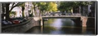 Bridge across a channel, Amsterdam, Netherlands Fine-Art Print