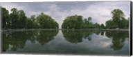 Reflection of trees in a pond, Versailles, Paris, Ile-De-France, France Fine-Art Print
