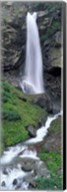 Waterfall in a forest, Sass Grund, Switzerland Fine-Art Print