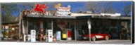 Store with a gas station on the roadside, Route 66, Hackberry, Arizona Fine-Art Print