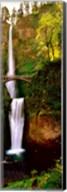 Footbridge in front of a waterfall, Multnomah Falls, Columbia River Gorge, Multnomah County, Oregon Fine-Art Print