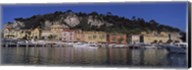 Boats docked at a port, English Promenade, Nice, Alpes-Maritimes, Provence-Alpes-Cote d'Azur, France Fine-Art Print