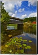Covered bridge across a river, Vermont, USA Fine-Art Print