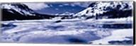 Lake and snowcapped mountains, Tioga Lake, Inyo National Forest, Eastern Sierra, Californian Sierra Nevada, California Fine-Art Print