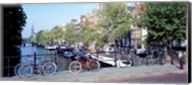 Netherlands, Amsterdam, bicycles Fine-Art Print