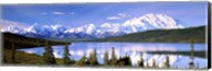 Snow Covered Mountains, Wonder Lake, Denali National Park, Alaska Fine-Art Print