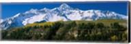 Snowcapped mountains on a landscape, Wilson Peak in autum, San Juan Mountains, near Telluride, Colorado Fine-Art Print