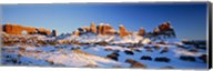 Rock formations on a landscape, Arches National Park, Utah, USA Fine-Art Print