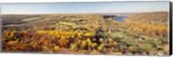 Aerial view of a landscape, Delaware River, Washington Crossing, Bucks County, Pennsylvania, USA Fine-Art Print