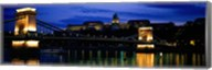 Szechenyi Bridge Royal Palace Budapest Hungary Fine-Art Print