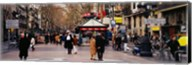 Tourists in a street, Barcelona, Spain Fine-Art Print