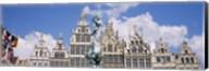 Low angle view of buildings, Grote Markt, Antwerp, Belgium Fine-Art Print
