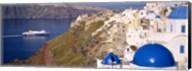 Buildings in a valley, Santorini, Cyclades Islands, Greece Fine-Art Print