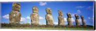 Row of Stone Heads, Easter Islands, Chile Fine-Art Print
