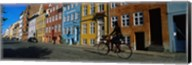 Woman Riding A Bicycle, Copenhagen, Denmark Fine-Art Print