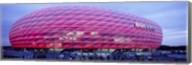Soccer Stadium Lit Up At Dusk, Allianz Arena, Munich, Germany Fine-Art Print