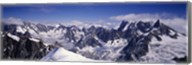 High angle view of a mountain range, Mt Blanc, The Alps, France Fine-Art Print