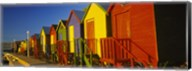 Beach huts in a row, St James, Cape Town, South Africa Fine-Art Print