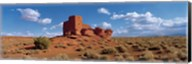 Ruins of a building in a desert, Wukoki Ruins, Wupatki National Monument, Arizona, USA Fine-Art Print