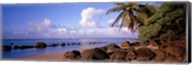 Rocks on the beach, Anini Beach, Kauai, Hawaii, USA Fine-Art Print