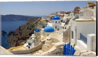 High angle view of a church, Oia, Santorini, Cyclades Islands, Greece Fine-Art Print