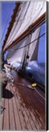 Sailboat in the sea, Antigua (vertical) Fine-Art Print