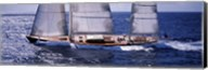 Sailboat in the sea, Antigua (horizontal) Fine-Art Print
