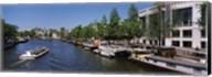 Opera house at the waterfront, Amstel River, Stopera, Amsterdam, Netherlands Fine-Art Print