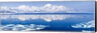 Reflection of a mountain range in an ocean, Bellsund, Spitsbergen, Svalbard Islands, Norway Fine-Art Print