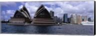 Opera house at the waterfront, Sydney Opera House, Sydney Harbor, Sydney, New South Wales, Australia Fine-Art Print