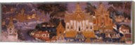 Ramayana murals in a palace, Royal Palace, Phnom Penh, Cambodia Fine-Art Print