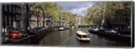 Close up of Boats in a canal, Amsterdam, Netherlands Fine-Art Print