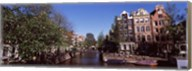 Buildings in a city, Amsterdam, North Holland, Netherlands Fine-Art Print