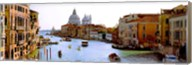 Boats in a canal with a church in the background, Santa Maria della Salute, Grand Canal, Venice, Veneto, Italy Fine-Art Print